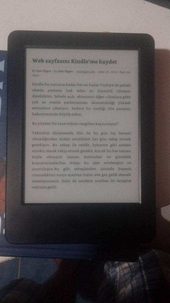Kindle-kaydet